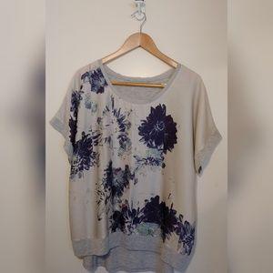 SimplyVera Vera Wang Short sleeve Floral blouse XL
